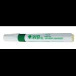 Hainenko Value Drywipe Marker Chisel Tip Green PK10
