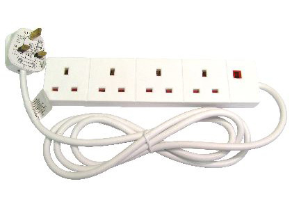Cables Direct RB-02M04D power extension 2 m 4 AC outlet(s) Indoor White