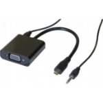 Hypertec 127855-HY video cable adapter 0.13 m VGA (D-Sub) HDMI Type D (Micro) Black
