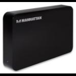 "Manhattan 130295 storage drive enclosure 3.5"" Black"