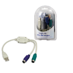 LogiLink Adapter USB - 2x PS/2 PS/2 cable 0.2 m USB M 2x Mini DIN 6-pin FM Grey