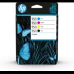 HP 6ZC69AE#301 (953) Ink cartridge multi pack, 23,5ml + 3x10ml, Pack qty 4