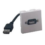 MCL BM802/USB toma de corriente Blanco