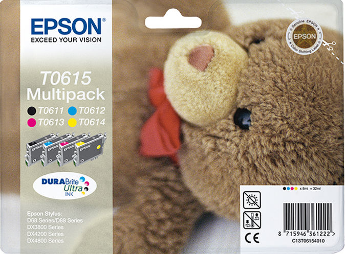 Epson Teddybear Multipack 4-kleur T0615 DURABrite Ultra Ink