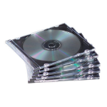 Fellowes NEATO Slim Jewel Cases - Clear/Black, 50 pack 50 discs