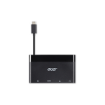 Acer NP.CAB1A.023 interface hub USB 3.0 (3.1 Gen 1) Type-C Black