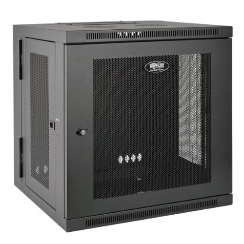 Tripp Lite 12U Wall Mount Rack Enclosure Server Cabinet, UPS Depth, Hinged Back