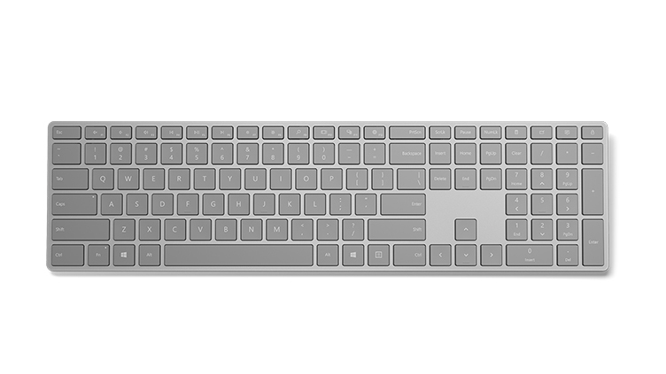 Microsoft 3YJ-00005 mobile device keyboard German Grey Bluetooth