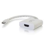 C2G 4k mini displayport to hdmi active adapter converter - white
