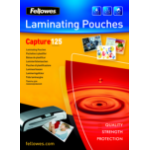 Fellowes A6 Glossy 125 Micron Laminating Pouch - 100 pack laminator pouch