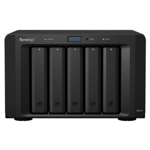 Synology DX513 30000GB Compact Black disk array