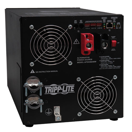 Tripp Lite PowerVerter APS X 3000W 24VDC 230V Inverter/Charger with Pure Sine Wave Output, Hardwired