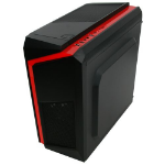 Spire F3 Micro Tower Black, Red