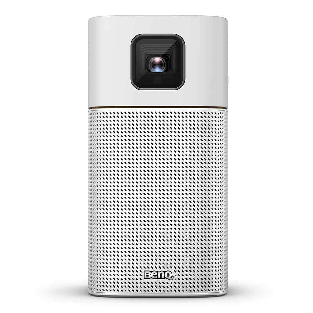 Benq GV1 beamer/projector 200 ANSI lumens DLP WVGA (854x480) Draagbare projector Zilver, Geel