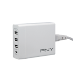 PNY P-AC-3UF1TC-WEU30-RB mobile device charger Indoor White