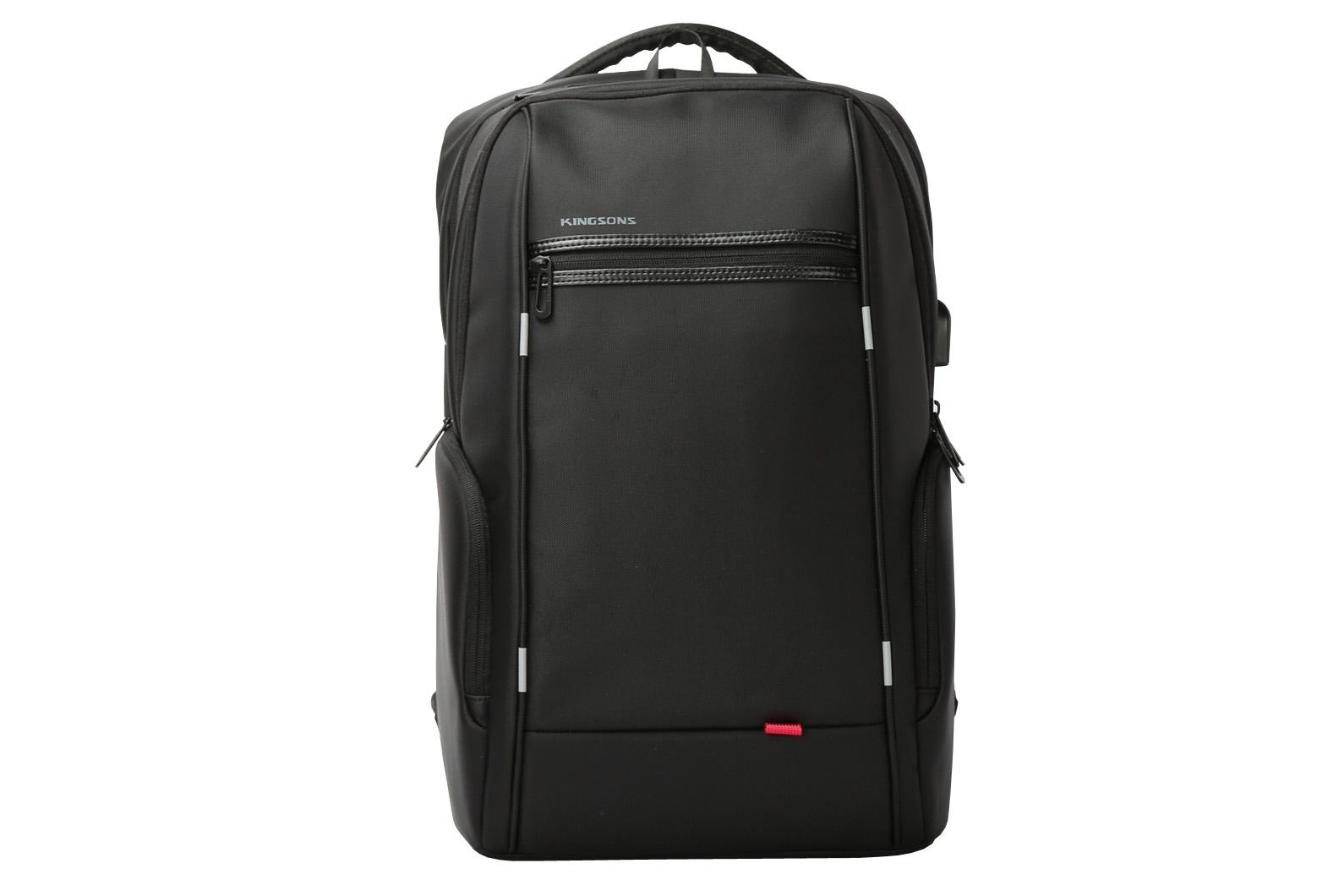 "Kingsons K9004-BK 15.6"" Power Series Smart Backpack With Built-in USB - Black"