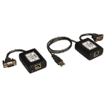 Tripp Lite VGA over Cat5/Cat6 Extender Kit, Transmitter and Receiver, USB-Powered, 1920x1440 at 60Hz, Up to 500-ft.