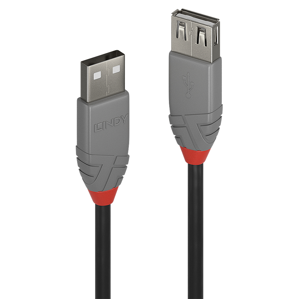 Lindy 36703 USB cable 2 m USB A Black,Grey