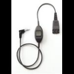 Jabra QD Cord w. PTT 2.5mm jack Black