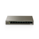 Tenda TEG1109P-8-102W network switch Unmanaged Gigabit Ethernet (10/100/1000) Gray Power over Ethernet (PoE)