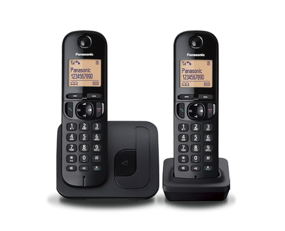 Cordless Dect Phone KX-TGC212EB with Call Blocking - Twin/ Black
