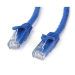 "StarTech.com Cat6 patch cable with snagless RJ45 connectors "" 25 ft, blue"