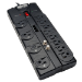 Tripp Lite TLP1208TELTV 12AC outlet(s) 120V 2.4m Black surge protector