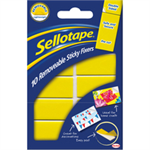 Sellotape Sticky Fixers Removable Double-sided 20x50mm 10 Pads Ref 1445286 [Pack 12]