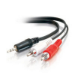 C2G 6ft 3.5mm Stereo M / RCA M Y-Cable 1.8m 3.5mm 2 x RCA Black audio cable