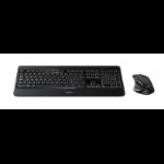 Logitech MX800 RF Draadloos QWERTY US International Zwart toetsenbord