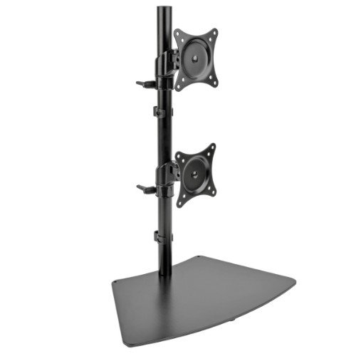 Tripp Lite Dual Vertical Flat-Screen Desk Stand / Clamp Mount for 15 to 27 Flat-Screen Displays