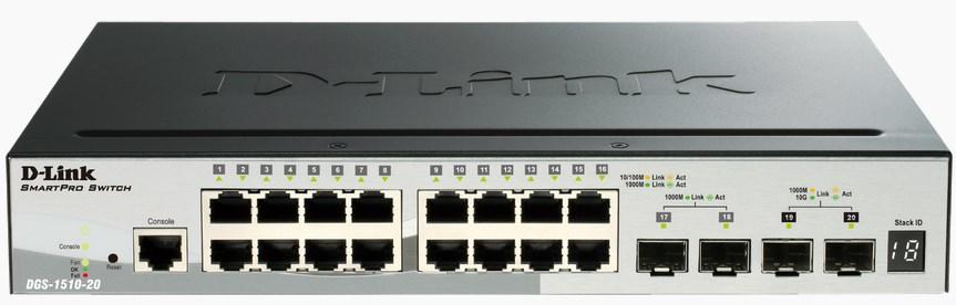 D-Link DGS-1510-20 switch Gestionado L3 Gigabit Ethernet (10/100/1000) Negro
