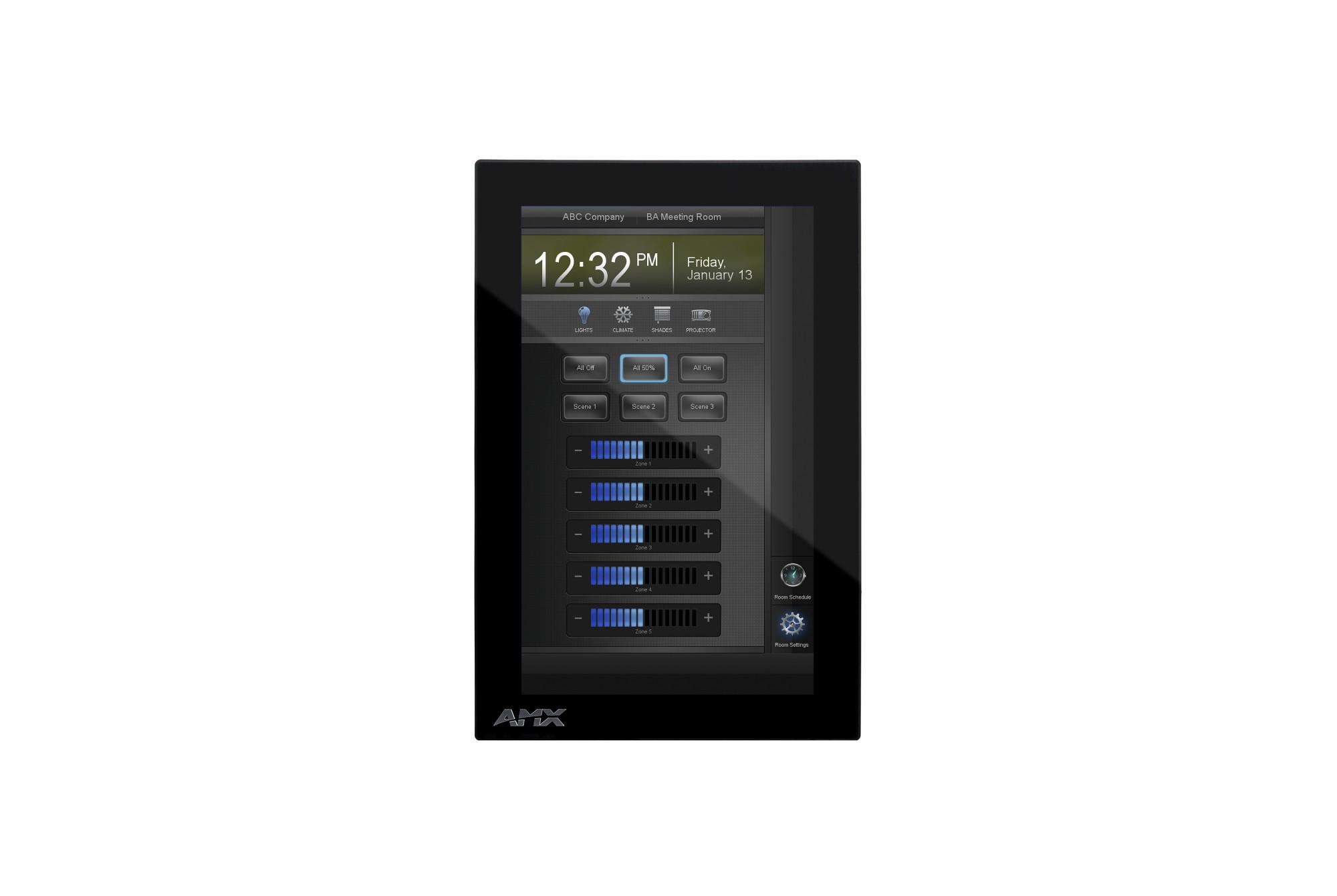 "AMX MXD-701-P 7"" 1024 x 600pixels Black touch screen monitor"