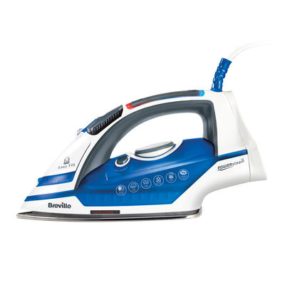Breville VIN374 Steam iron Stainless steel soleplate 2400W Blue, White iron