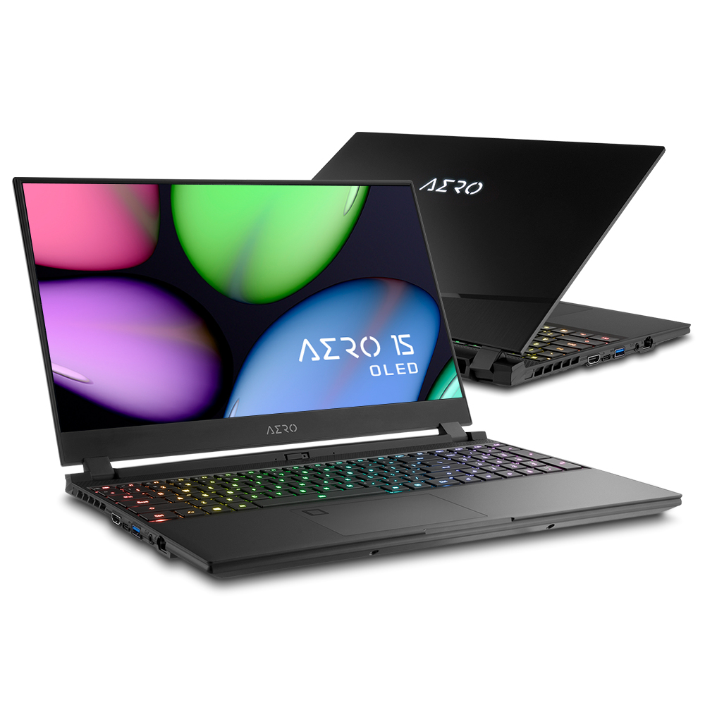 "Gigabyte AERO 15 OLED YA-7UK5450SP Black Notebook 39.6 cm (15.6"") 3840 x 2160 pixels 9th gen Intel® Core™ i7 32 GB DDR4-SDRAM 1000 GB SSD NVIDIA® GeForce RTX™ 2080 Max-Q Wi-Fi 6 (802.11ax) Windows 10 Pro"