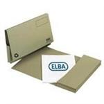 Elba Document Wallet Full Flap 260gsm Capacity 32mm Foolscap Green Ref 100090254 [Pack 50]