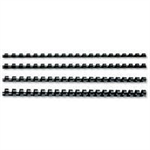 GBC CombBind Binding Combs 8mm Black (100)