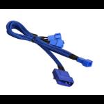 BitFenix Molex - 3 x 3-Pin Fan 12v 20cm Molex (4-pin) 3 x 3-pin Blue cable interface/gender adapter