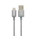 PNY USB A/Lightning 1.2m 1.2m USB A Lightning Grey, Metallic mobile phone cable