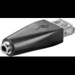 Microconnect USBA/3,5MMAF cable gender changer 3.5 mm USB 2.0 Black