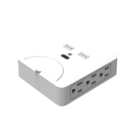 Inland Type Bx6, 2xUSB Type B White outlet box