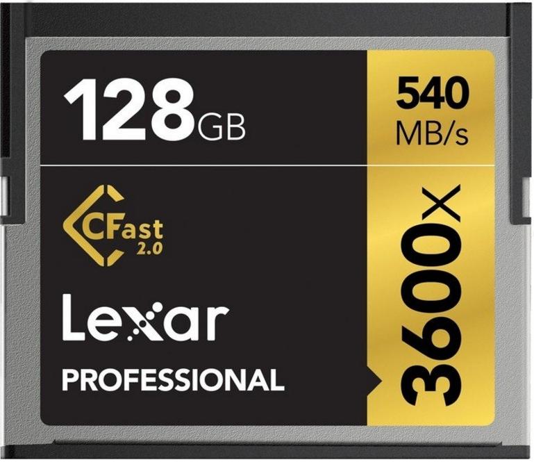 Lexar CFast 2.0, 128GB 128GB CompactFlash memory card