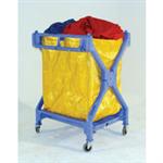 VFM Yellow Folding Laundry Trolley 314176