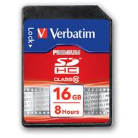 Verbatim Premium memory card 16 GB SDHC Class 10