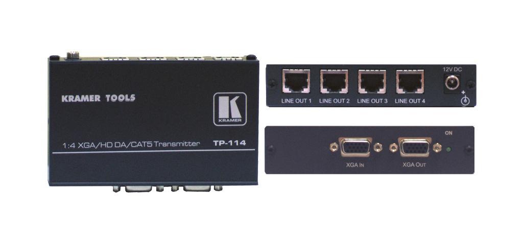 Kramer Electronics TP-114 AV transmitter Black AV extender