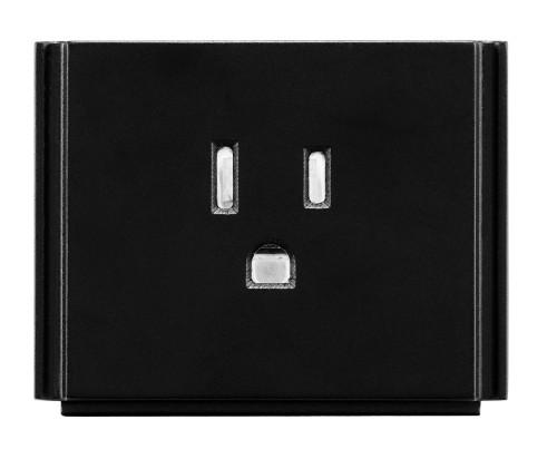 AMX HPX-P200-PC-US Black outlet box