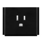 AMX HPX-P200-PC-US Black outlet box
