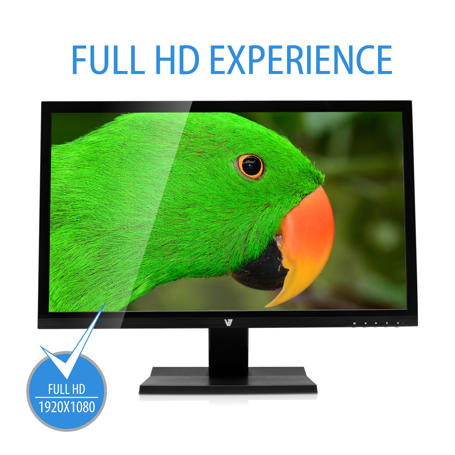 "V7 L27000WHS 27"" Full HD LED Monitor 16:9 - Includes UK Plug"