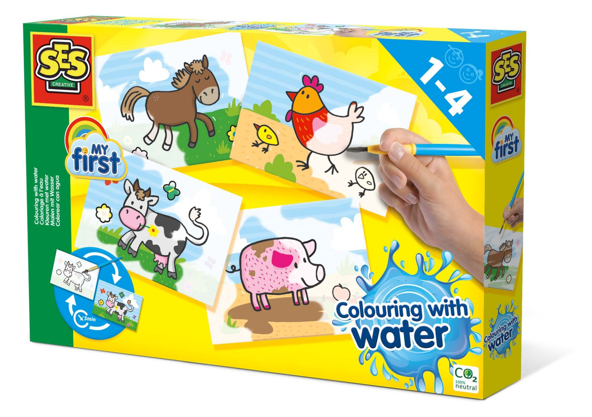 SES Creative My First Colouring with water - Farm animals