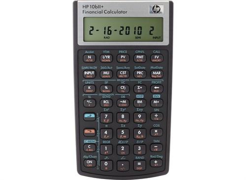HP 10bII+ Pocket Financial Black calculator